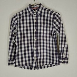 mini boden shirt button front plaid size 7/8 year
